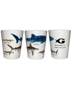 GAQ Shark Name Shot Glass