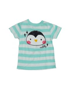 "Toddler ""Cuddly"" Penguin Face Tee"