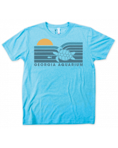 Adult Blue ''Turtle Sunset'' Sustainable Tee